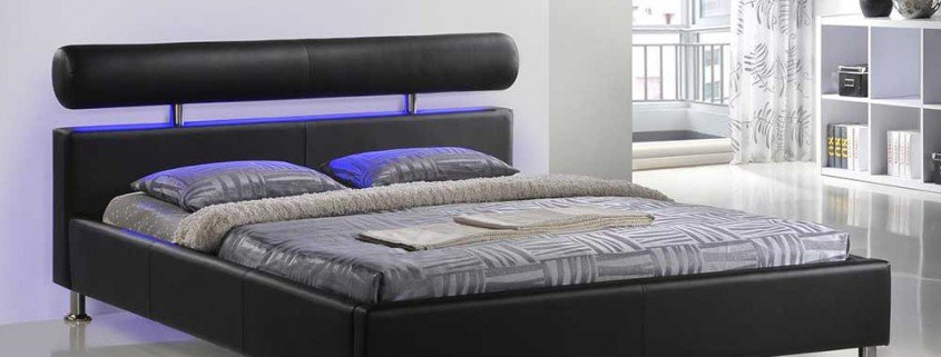 J 140 Bed 160x200 incl mattress black