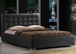 145 Bed 160x200 incl mattress black